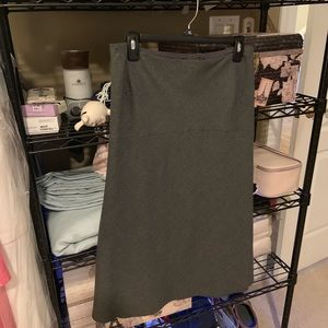 Talbots Gray Lined A Line Wool Skirt